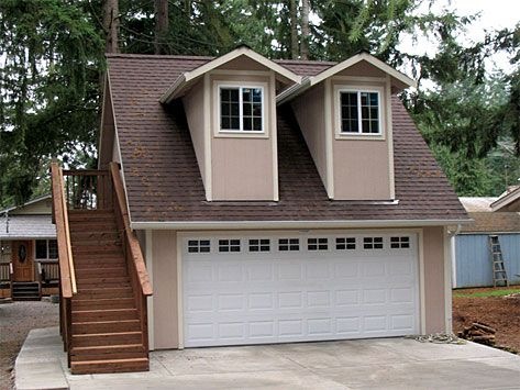 Custom Garage With Access To A Finished Apt Above Mother In Law
