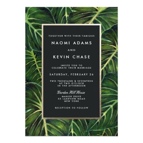 Chic & Modern Tropical Wedding Invitations | Invitation design ...