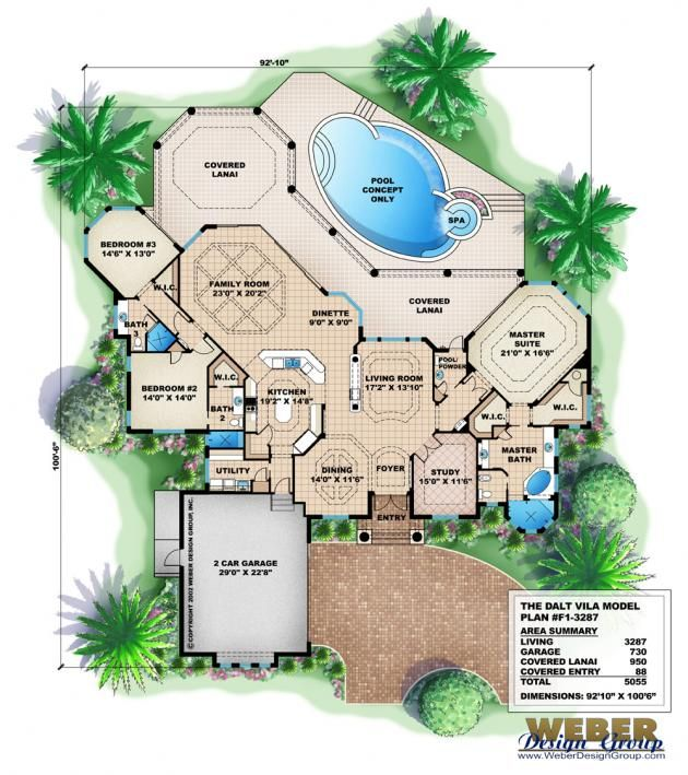 Mediterranean Style Homes For Sale In Florida: Tuscan House Plan: Coastal Mediterranean Style Home Floor