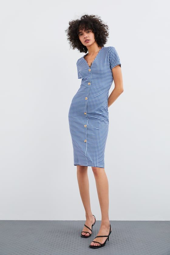 04fcd8ff182 ZARA - WOMAN - BUTTONED DRESS