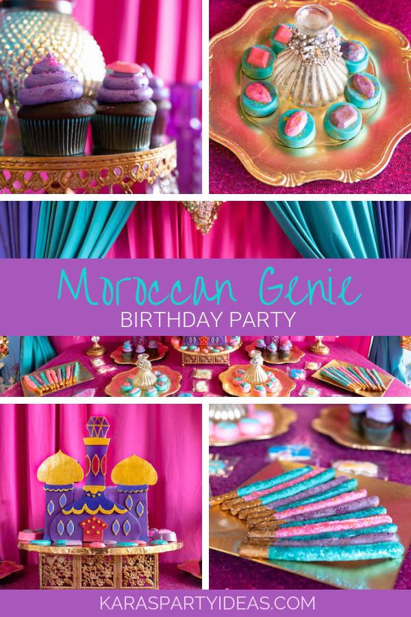 1e64b710625 Moroccan Genie Birthday Party via Kara s Party Ideas - KarasPartyIdeas.com
