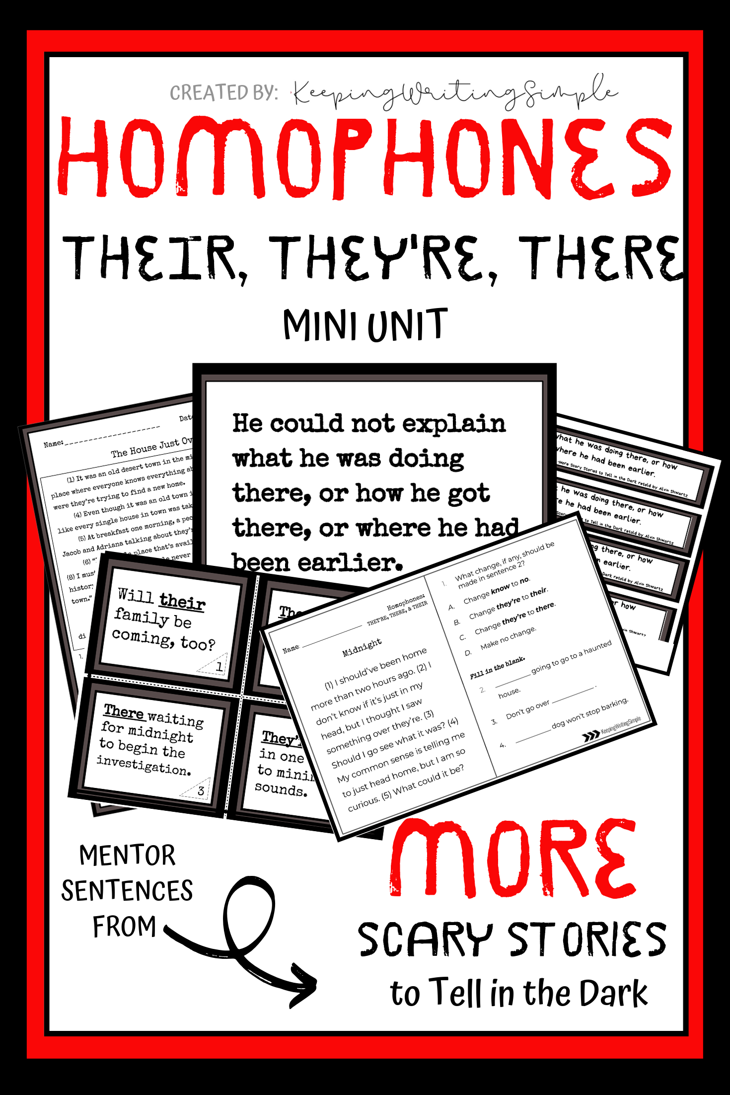 Homophones There Their They Re Exit Tickets Task Cards