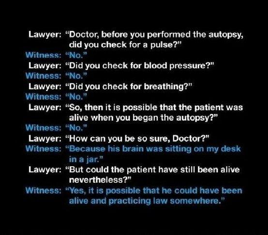 Doctor Vs Lawyer Accident Lawyers Doctor Humor Lawyer Jokes