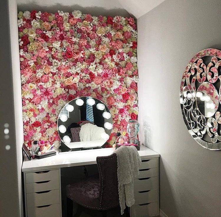 Flower Wall Makeup Room Decor Room Decor Diy Room Decor