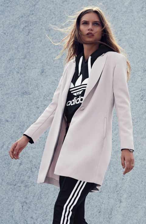 Sincerely Jules Blazer, adidas Originals Hoodie & Pants Outfit with Accessories