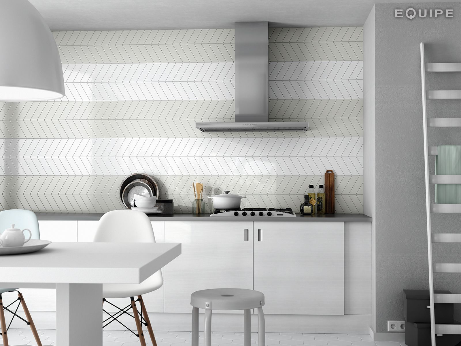 these new chevron wall tiles would make a stunning splashback or