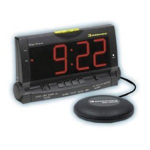 Clock W Bed Shaker For The Deep Sleeper Alarm Clock Alarm Clock Design Loud Alarm Clock
