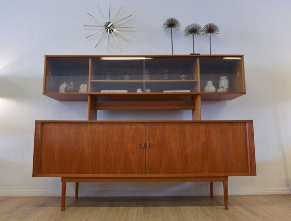 Danish Style Credenza : Danish modern teak two level credenza by jens themodernvault