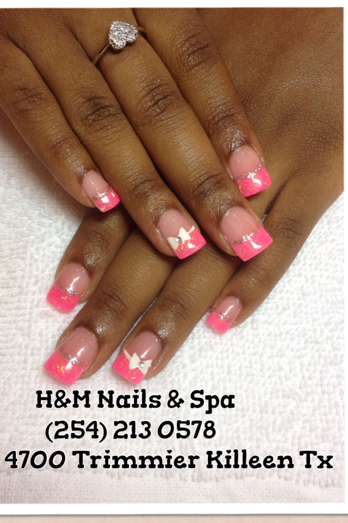 Pink solar nails and cute designs !!! Check out my fb page @ H&M ...