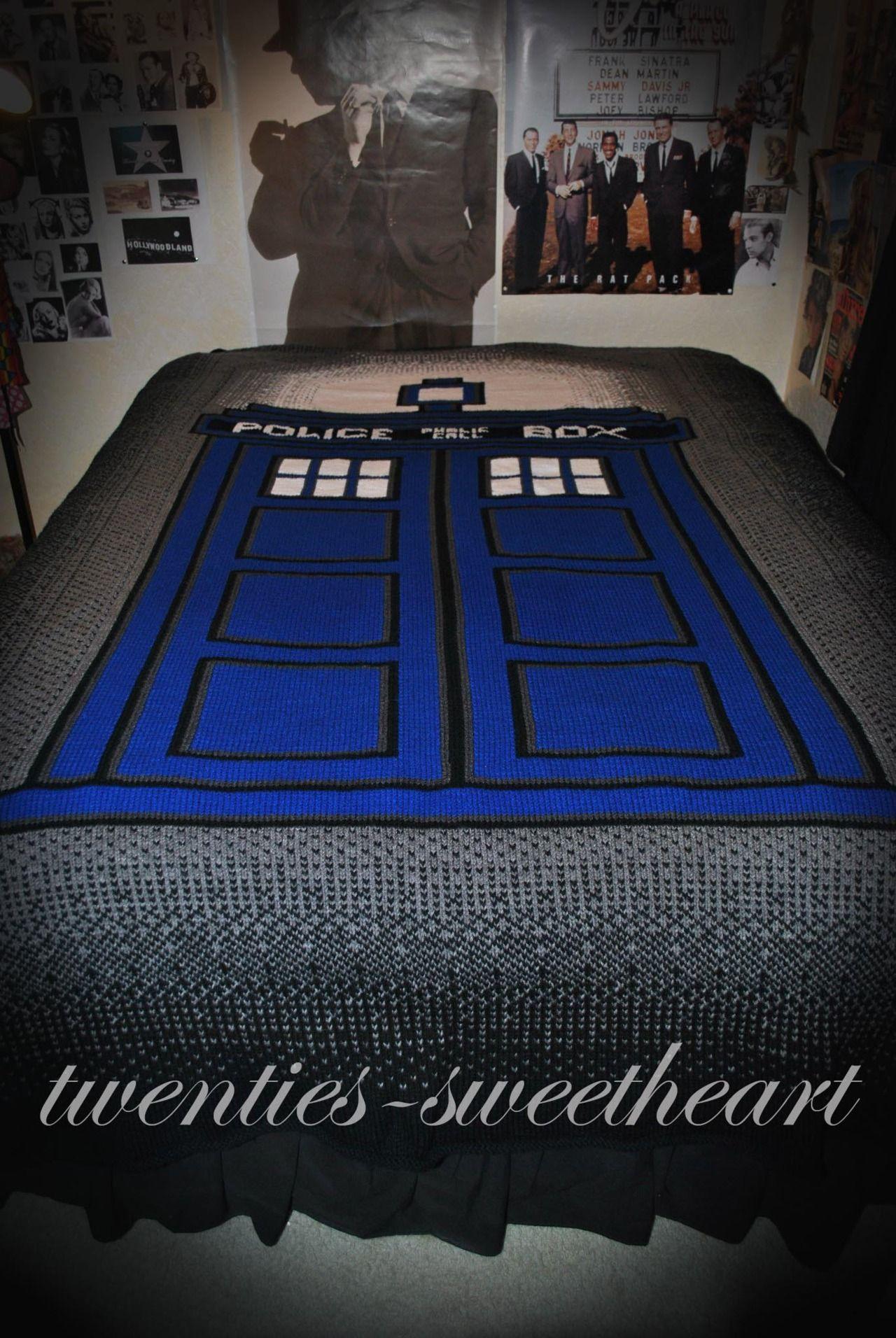 Tardis Blanket Knitting Pattern : crochet doctor who Doctor Who TARDIS Afghan [pic] Global Geek News ..Oo...