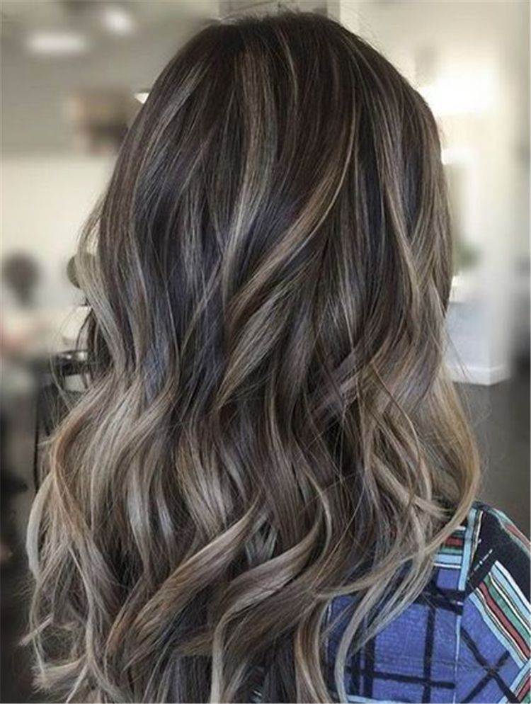 Stunning Ash Brown Hair Color Ideas For Summer Ash Brown Hair Hair Color Ash Brown Hair Color Summe Ash Hair Color Brunette Hair Color Hair Color Balayage