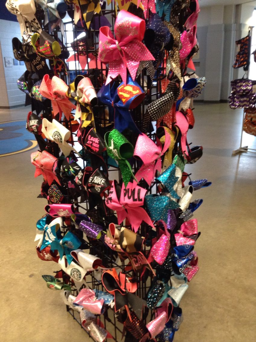 Cheer bow holder for cheer bows and hair bows cheer bow hanger - Bows For All Bow Rack For Cheerleaders Bedroom
