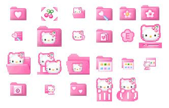 Pink Hellokitty Icons Hello Kitty Iphone Design Phone Themes