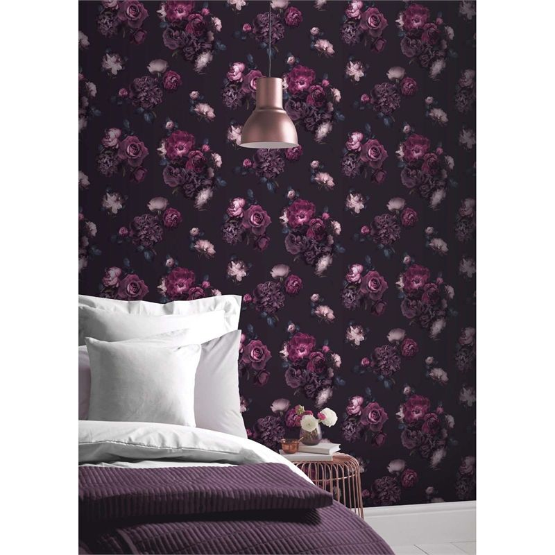 Find Arthouse Euphoria Floral Plum Wallpaper At Homebase Visit Your Local Store For The Widest Range Of Paint Decorating Products