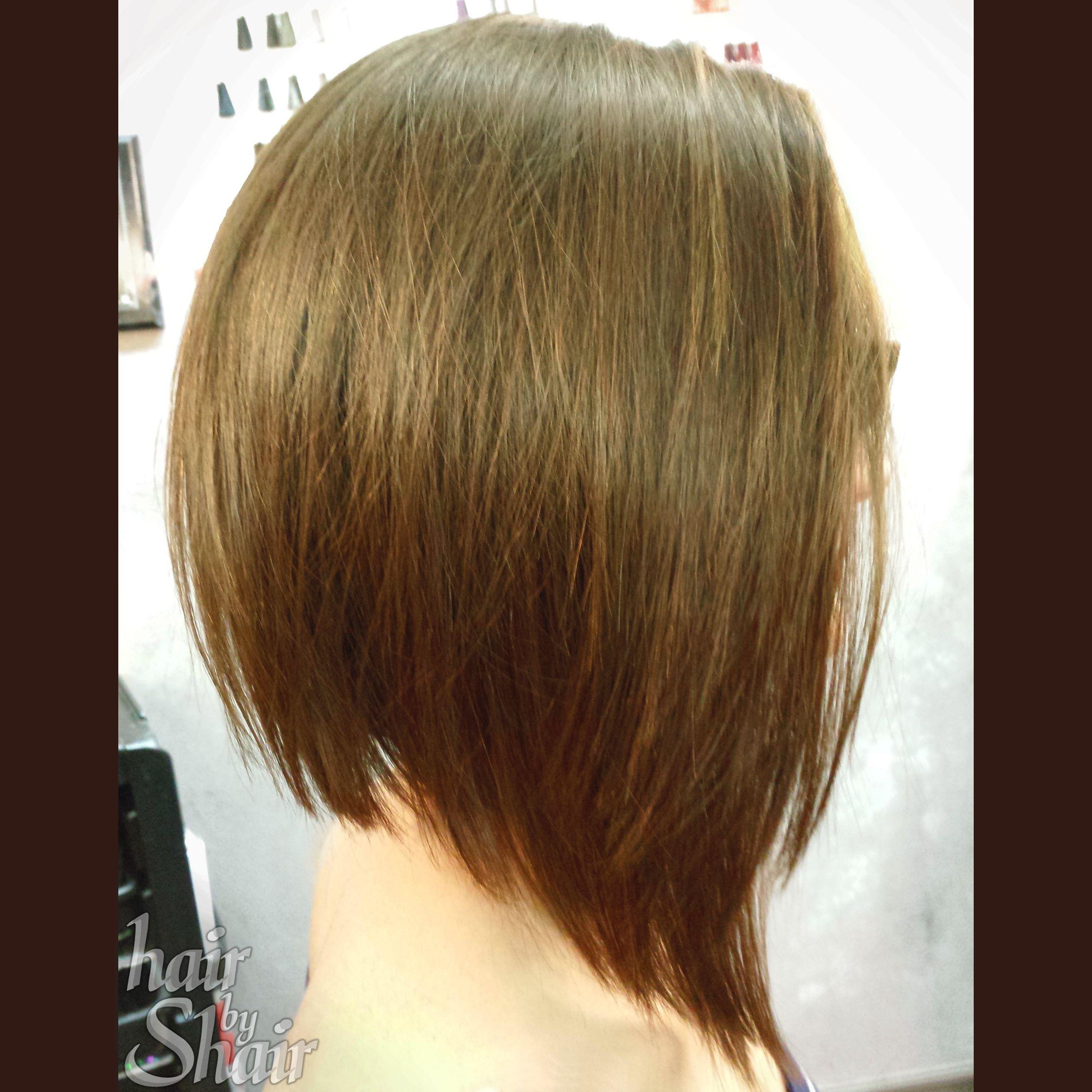 Aline Inverted Bobcut Dark Short Hair Haircut Choppy