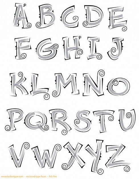 afbeeldingsresultaat voor alfabet sierletters | letters / lettering