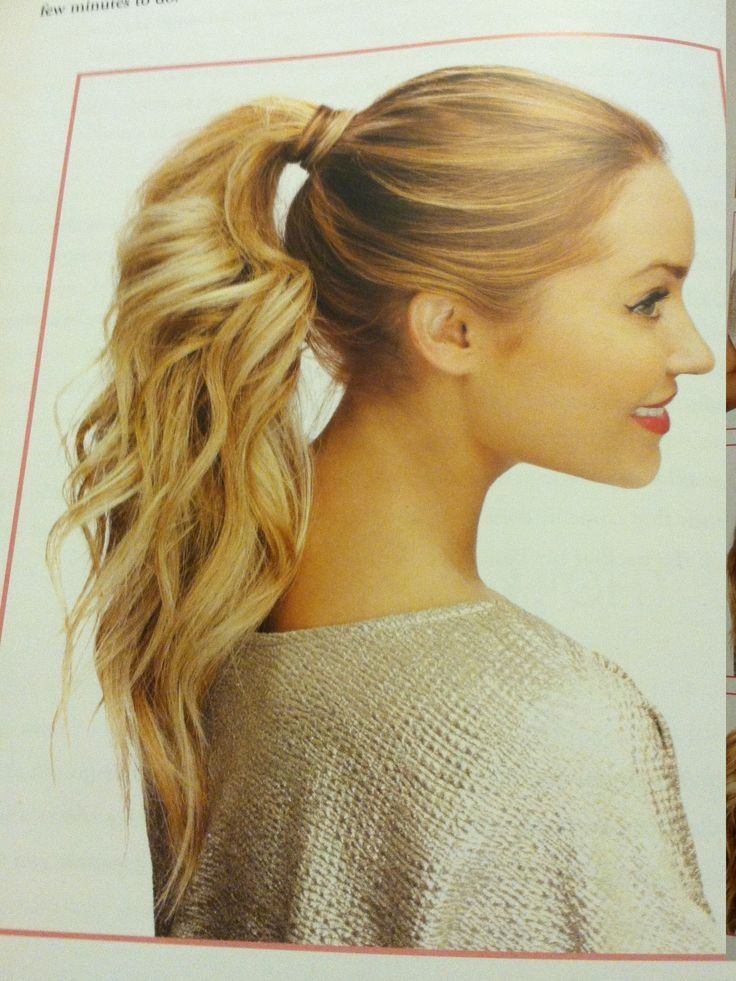 Add a cute hair extension – trendiest ponytail hairstyles for long hair Credit. This is a super-quick way to create a trendy ponytail on long hair or with a hair extension. This model's medium-blonde hair is tied in a ponytail at the nape, with smooth hair around the head.