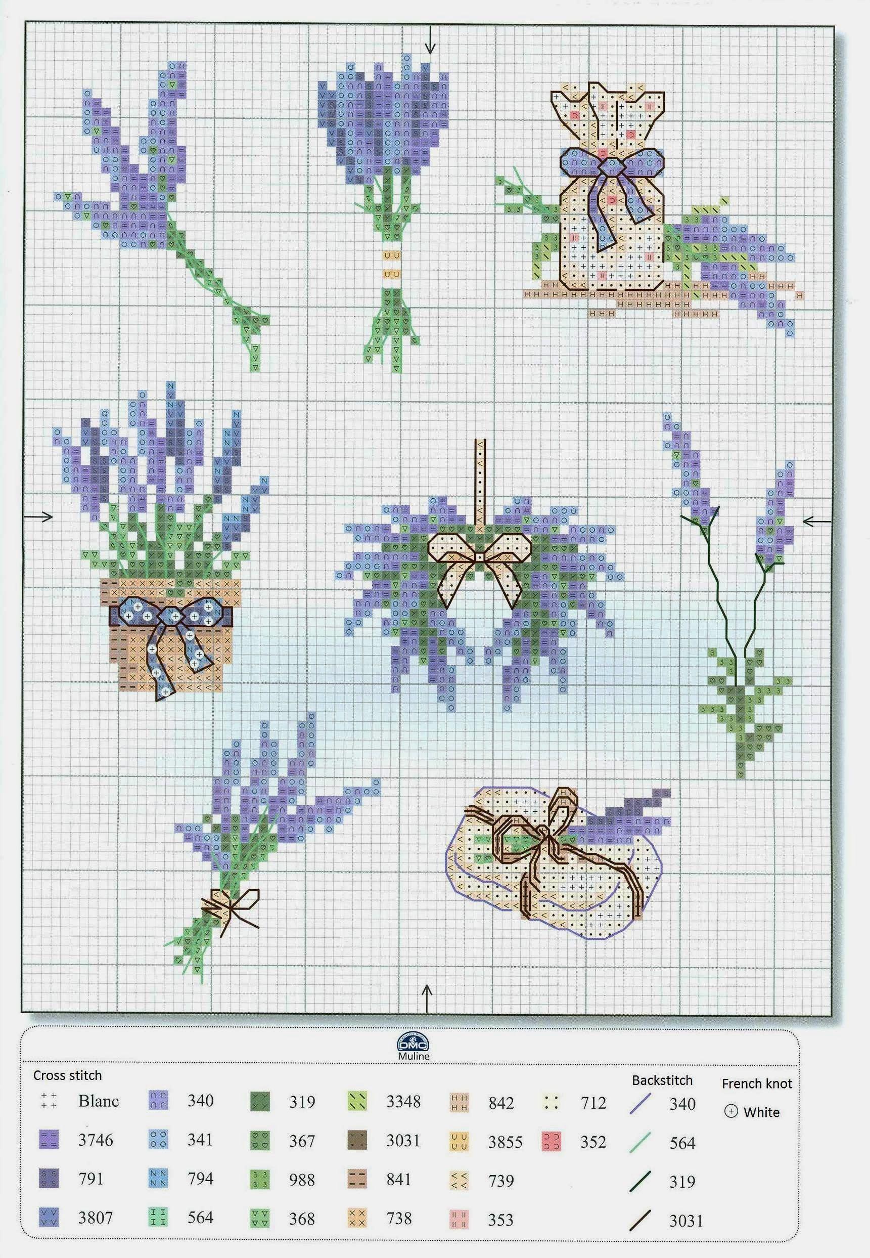 Lavendel | Sticken | Pinterest | Lavendel, Kreuzstich und Stickerei