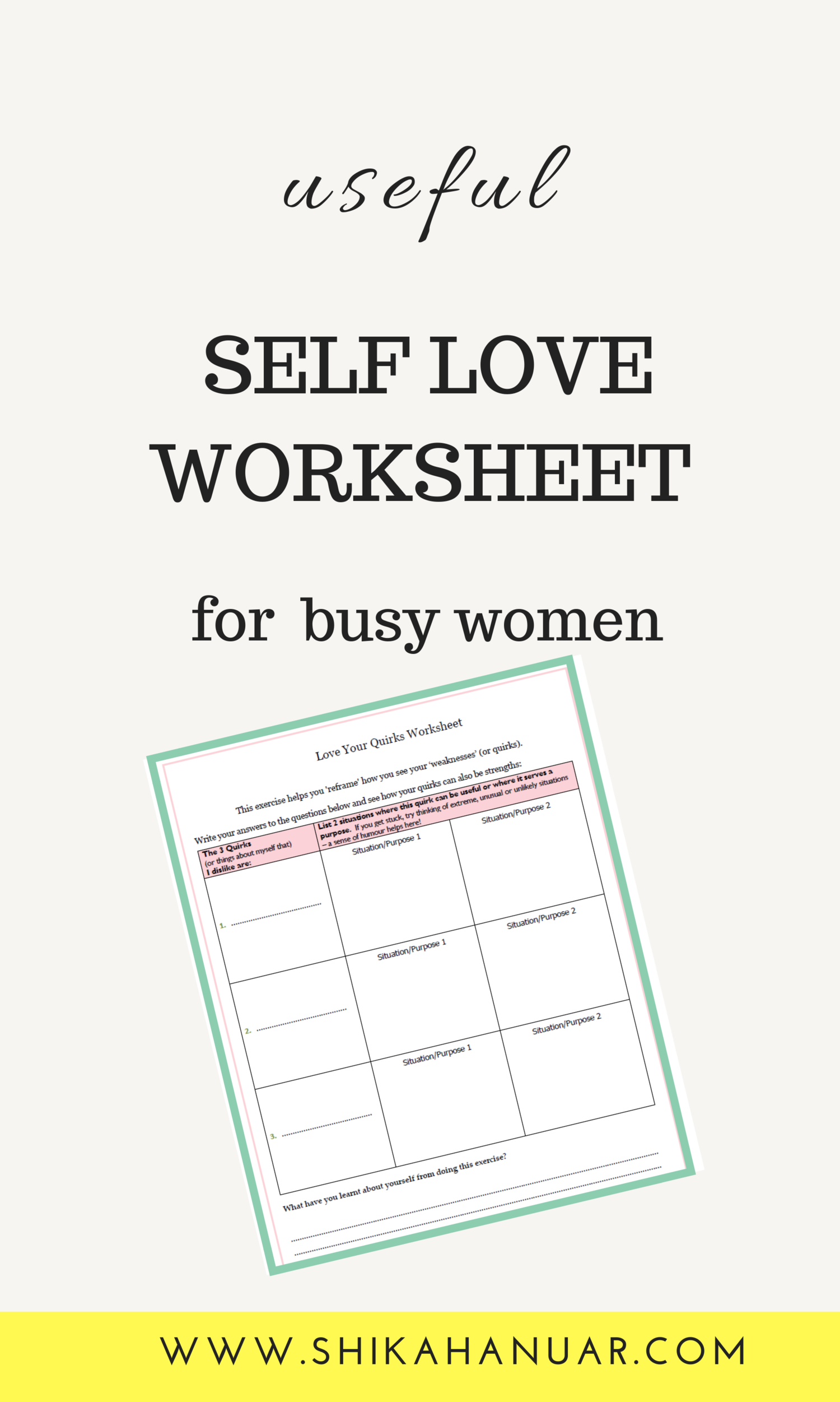 Free Printable 5 Powerful Habits For Self Love