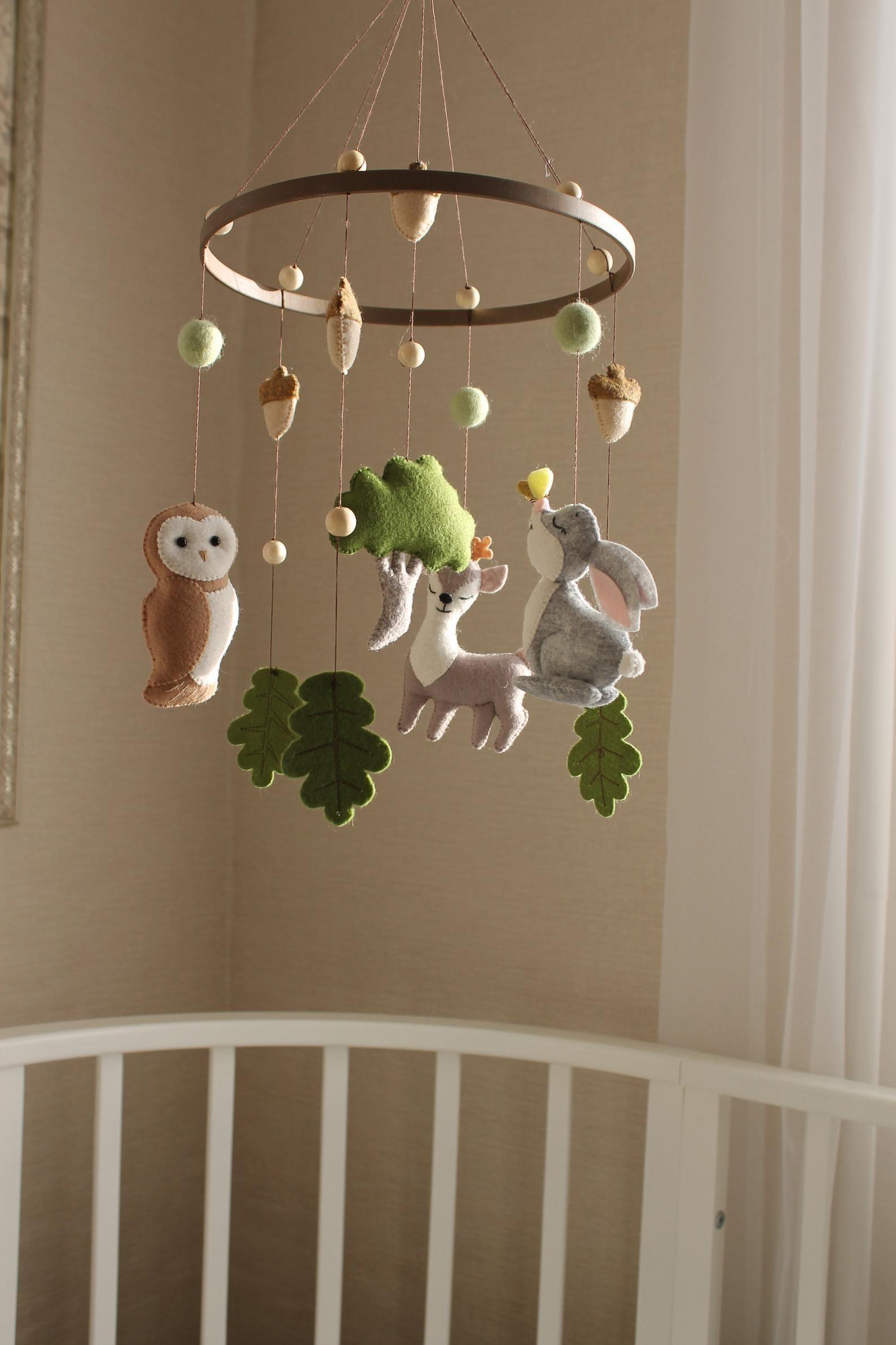 Mobiles Kids Room Baby Mobile Wall Hanging Decoration Felt Mobile for Baby Baby Pendant Felt name banner Nursery Decor Baby Mobiles