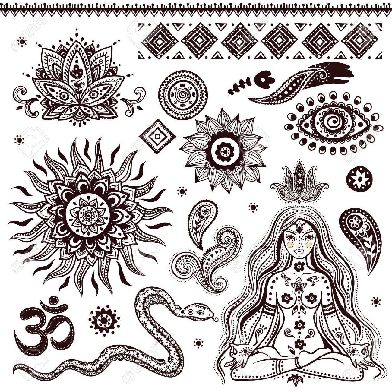 Spiritual Yoga Symbols Google Search Ink Pinterest Symbols