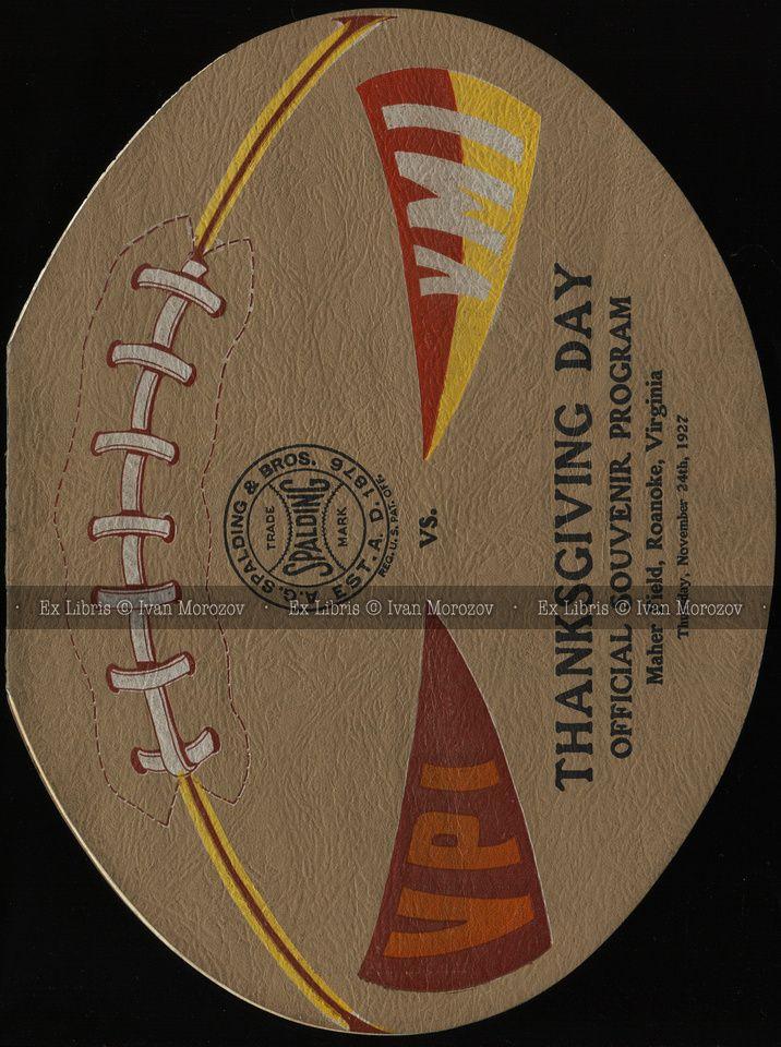 1927.11.24. Virginia Tech vs VMI. An oversized football