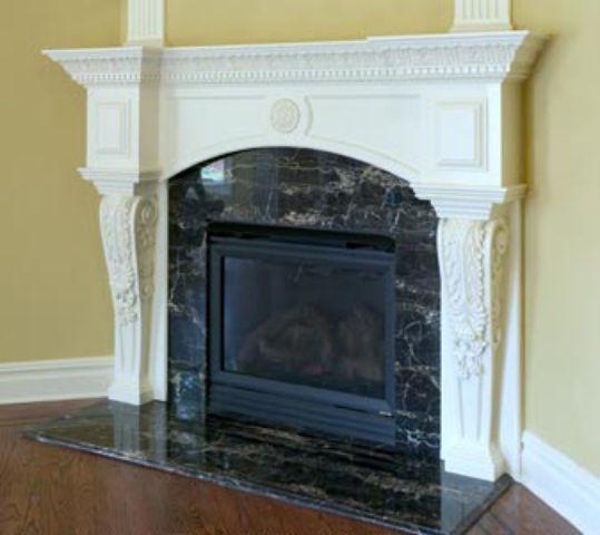 Marble Fireplace Surround, Black Granite Tile Fireplace Surround