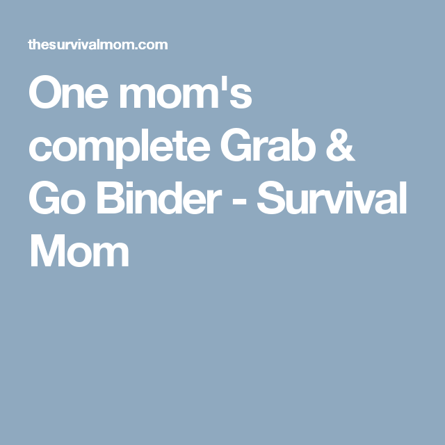 One Mom's Complete Grab & Go Binder