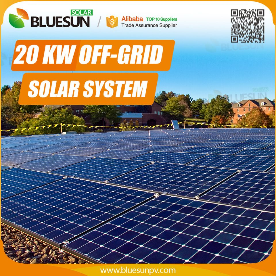 Bluesun Poly Panels Price 20kw Solar Panel System With Battery Backup Wholesale China Off Grid Solar Solar Panel System Solar System