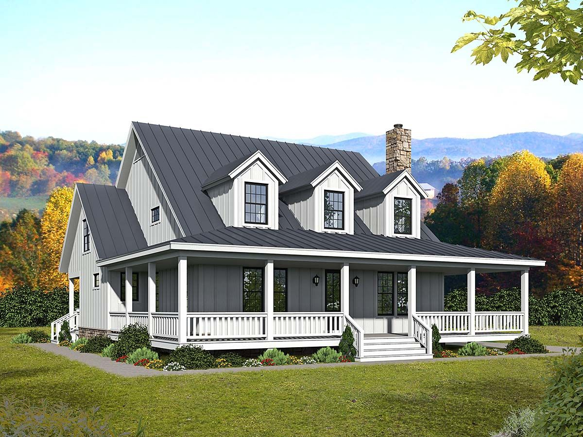 Southern Style House Plan 40841 With 3 Bed 4 Bath Porch House Plans House Plans Two Story House Plans