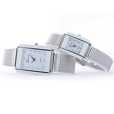 Women's Fashion Large And Small Size Diamante Rectangle Dial Steel Wire Band Quartz Analog Wrist Watch(Assorted Color) 4724882 2016 – $12.50