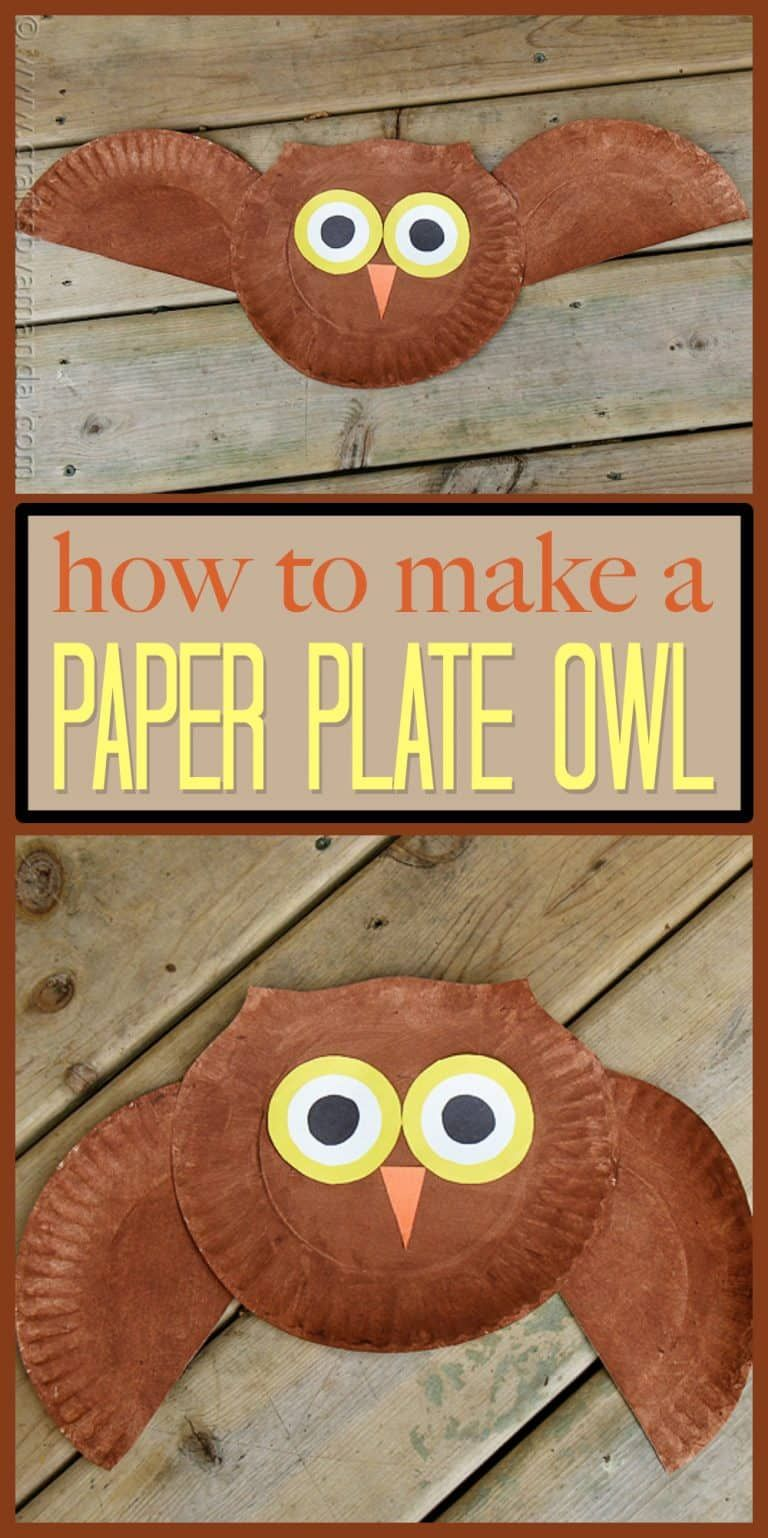 This super easy owl craft is great for young kids, even the smallest can do this with help! Make this fun paper plate owl with your kids today. #fallcraftsfortoddlers