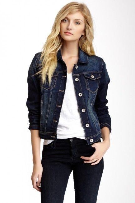 Denim Jacket Denim Jacket Women Dark Blue Denim Jacket Jean Jacket Outfits