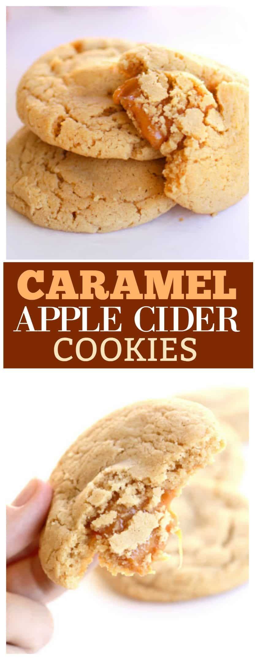 Caramel Apple Cider Cookies - The Girl Who Ate Everything