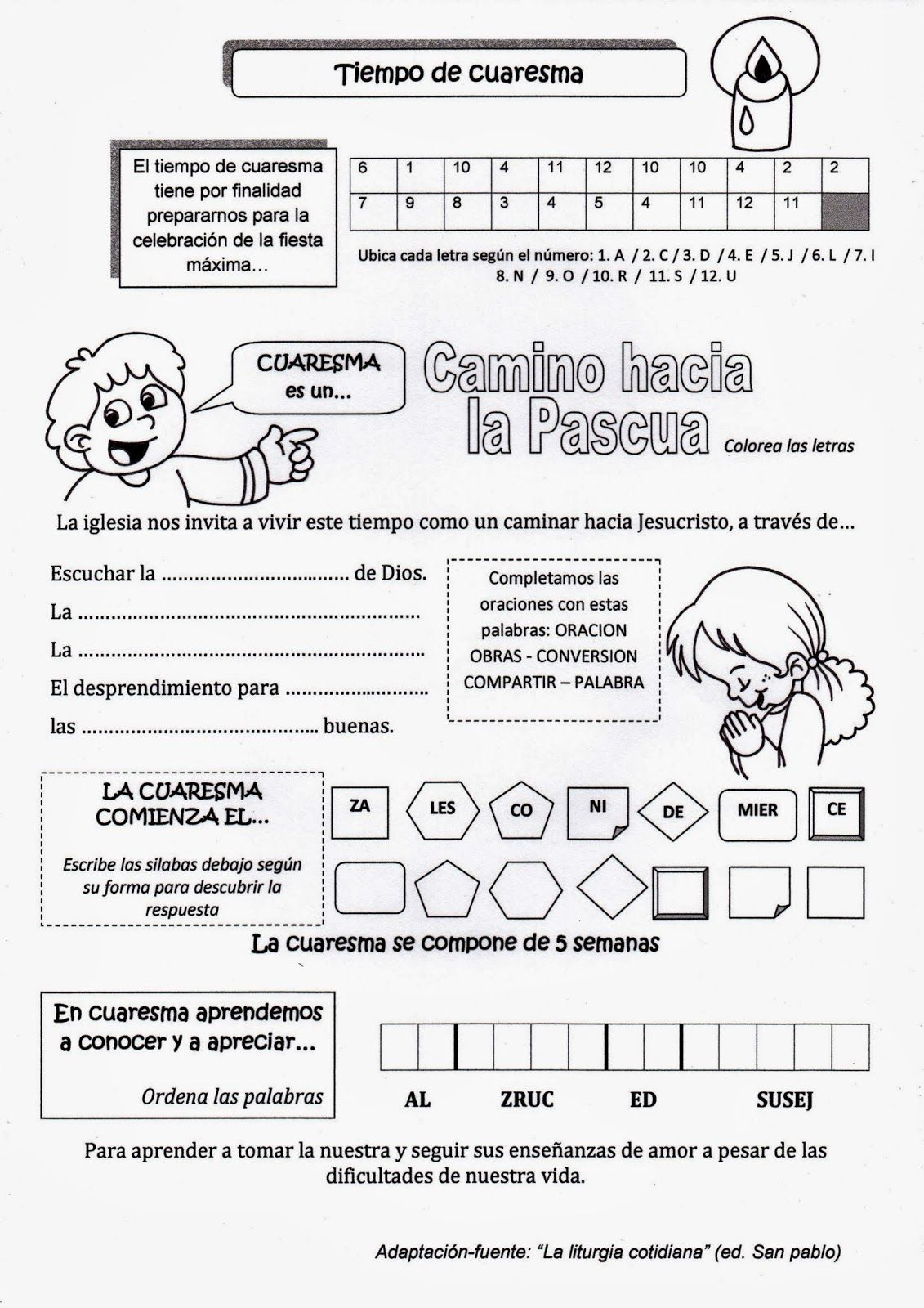La Catequesis Explicación Sencilla Para Niños De La Cuaresma Con Un