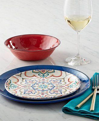 Home Design Studio La Villa Melamine Mix & Match Collection - Dinnerware - Dining & Entertaining - Macy's
