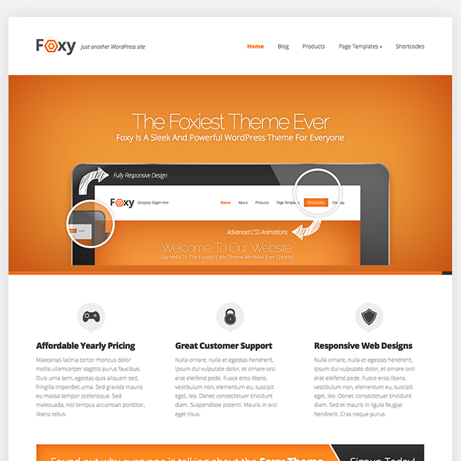 Foxy by #Elegant #Themes is a #premium #WordPress theme for business ...