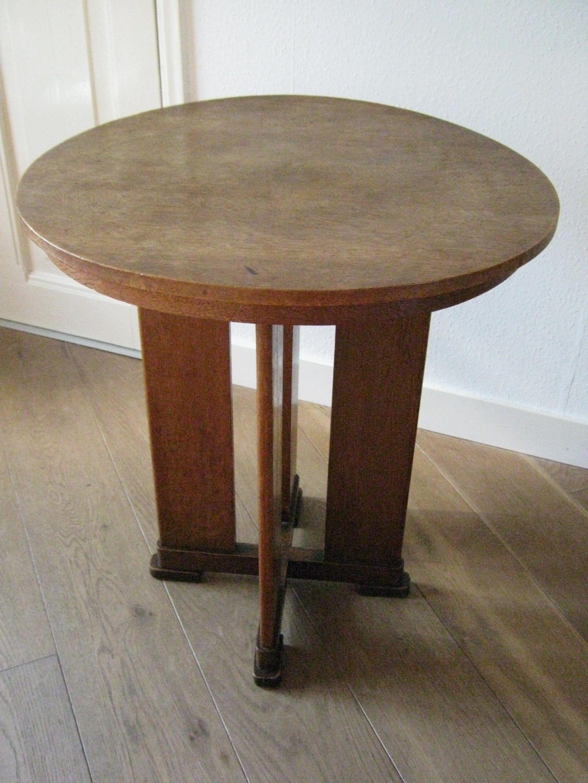 Amsterdamse school / Art deco bijzet tafel / occasional table 66 cm ...