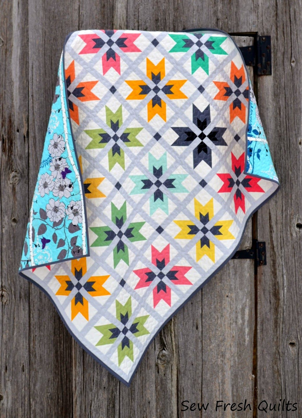 Pattern by Sew Fresh Quilts.. link to her shop in blog.  LOVE her patterns and use of color!