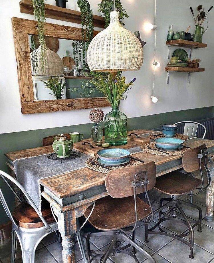bohemian home decor and life style ideas decor home decor rustic table setting on boho chic kitchen table decor id=33064