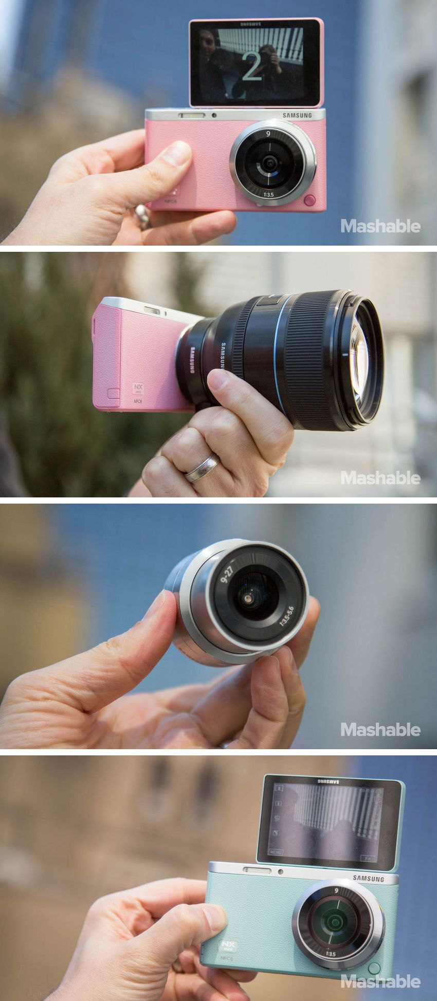 Step up your selfie game with the Samsung NX Mini.