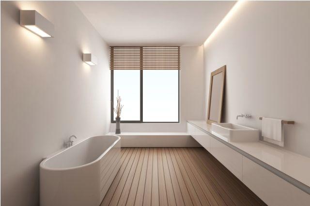 Piso para ba o de madera piso de madera ba o minimalista for Iluminacion minimalista interiores