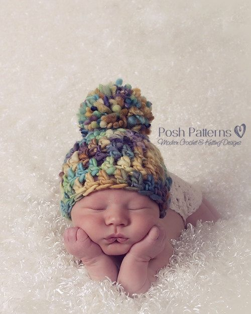Crochet PATTERNS - Crochet Hat Pattern - Hand Spun Yarn Beanie ...