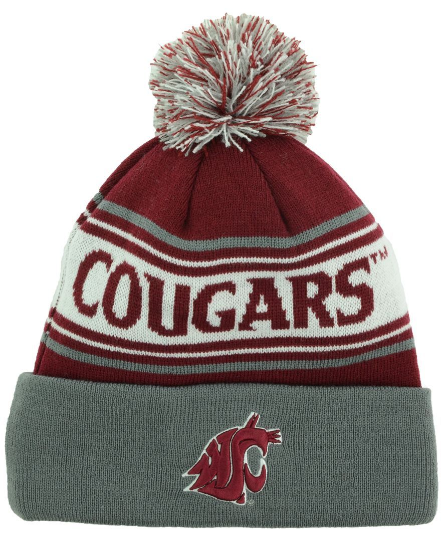 Top of the world washington state cougars ambient pom knit hat sports fan  shop lids men 0344ca3a8fbd