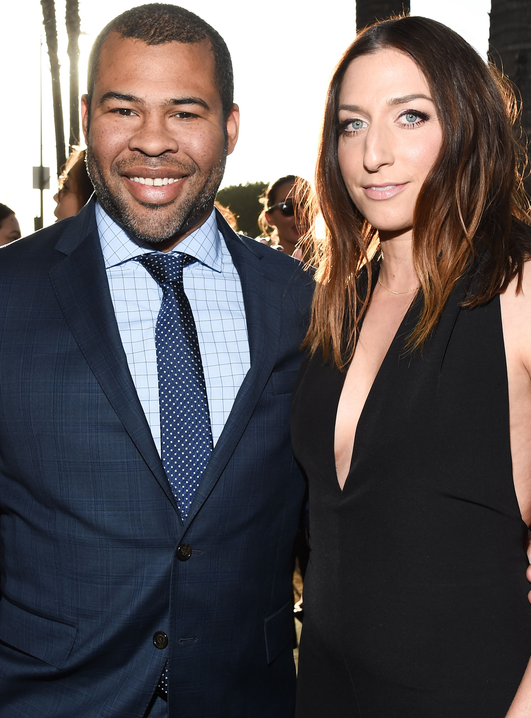 Chelsea Peretti Announces Her First Baby With Jordan Peele In A Mirror Selfie Refinery29 Chelsea Peretti Chelsea Jordan Peele