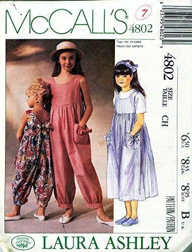 a35a0780e102 McCall's Pattern 4802 - Laura Ashley Children's and Girl's Jumpsuit ...