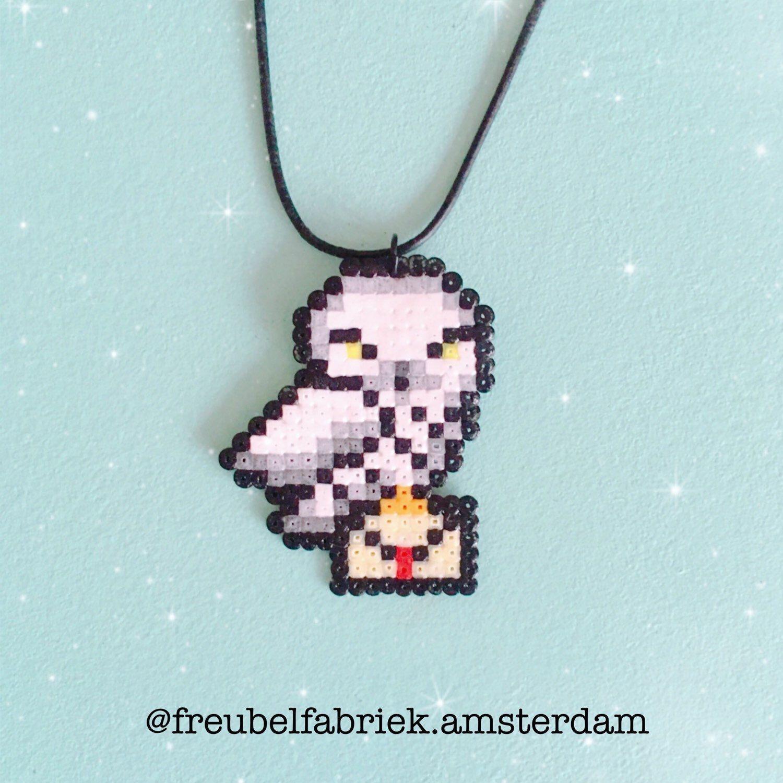 Owl Harry Potter necklace   Bügelperlen, Perlen und Hama bügelperlen