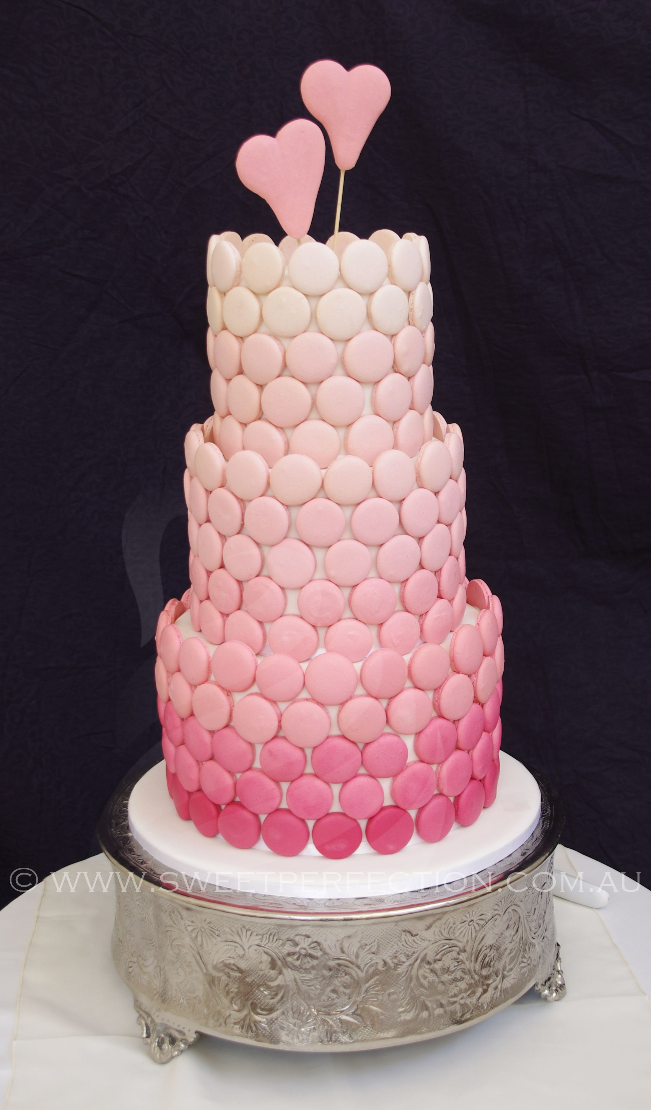Another ombre macaron wedding cake based on our original design ...