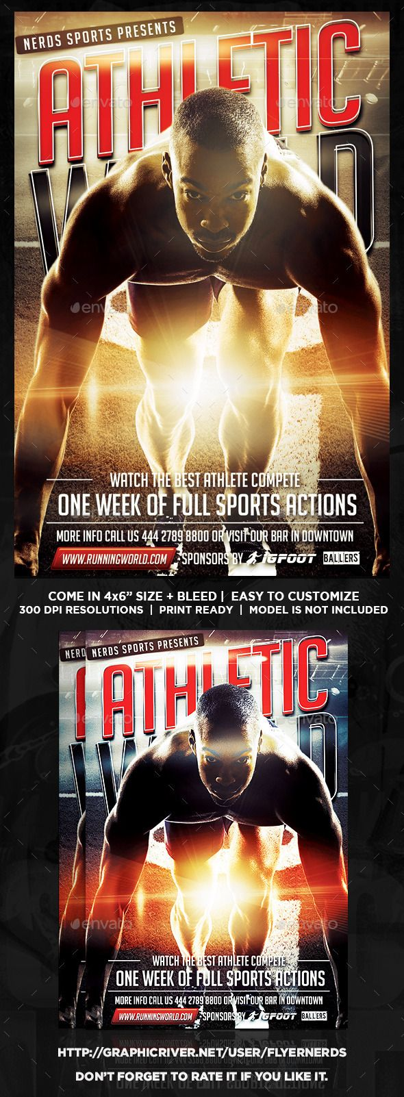 Athletic Competition Sports Flyer  Flyer Template Event Flyers