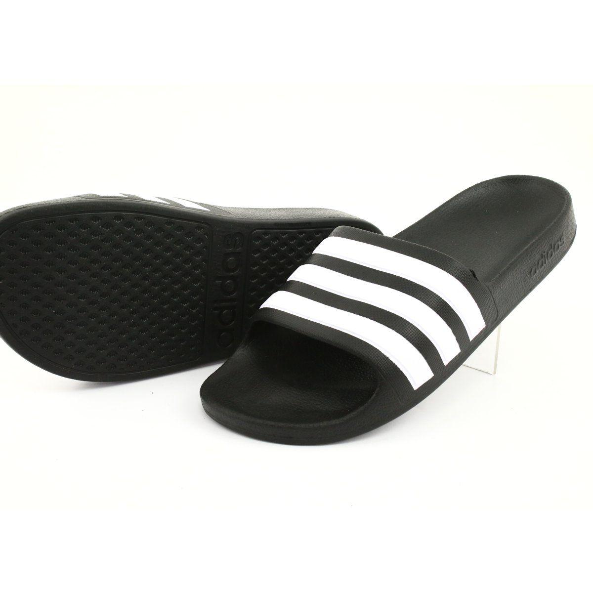 Klapki Adidas Adilette Aqua K Jr F35556 Biale Czarne Womens Slippers Adidas Adilette Sport Slippers